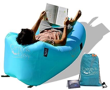 Amazon.com: Tumbona de aire inflable sofá cama con especial ...