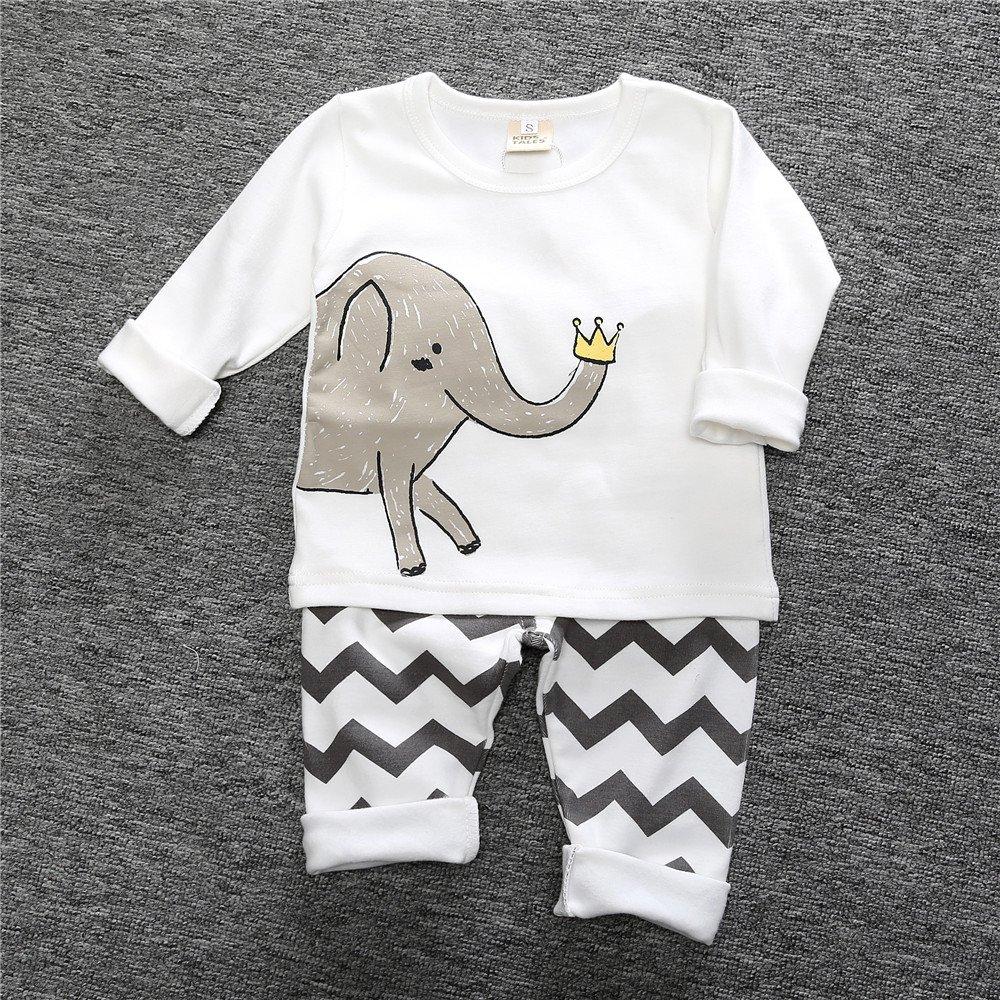 Chickwin Conjuntos de Pijama para Bebés Niños Niña, Unisex Manga Larga Top Pantalones de Pijamas Enteros 12 Meses~3 Años: Amazon.es: Ropa y accesorios