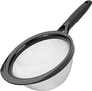 """Good Cook Strainer Kitchen Essentials, 8"""", Black"""