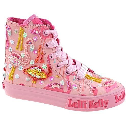 2cac90d66c Lelli Kelly LK5090 (BC02) Pink Fantasy Flamingo Canvas Baseball Boots-28 (UK