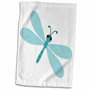 Amazon Com 3d Rose Cute Cartoon Dragonfly Hand Towel 15 X 22