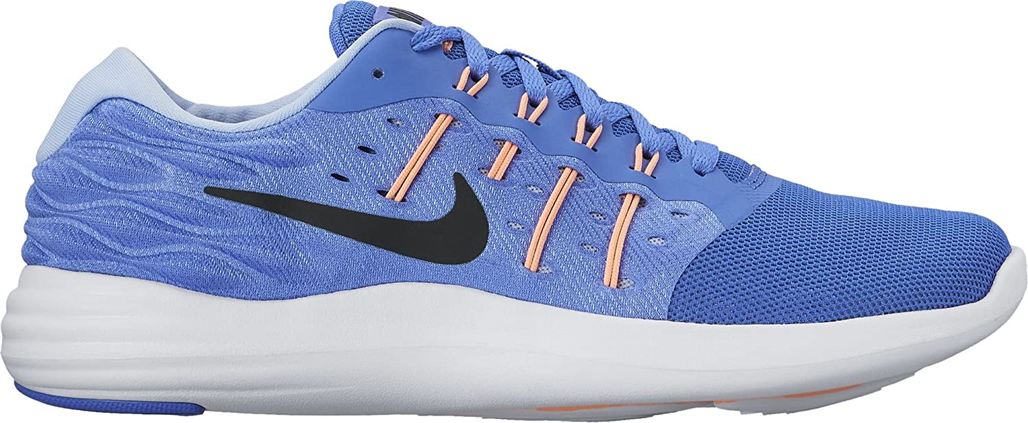 NIKE Women's Lunarstelos Running Shoe B01H5YK1XY 7 B(M) US|Medium Blue/Black-sunset Glow