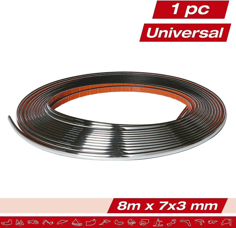 8mt X 3mm Profilo Adesivo Cromato Decorativo SUMEX 0013991 Race Sport