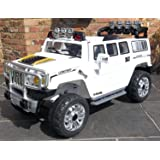 JJ255A White Hummer Style Ride-on Car for Kids 2-5 years old with Remote Control