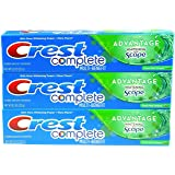 Crest Complete Multi-Benefit With Extra Advantage Whitening Plus Scope Toothpaste - Fresh Mint Striped 8.2oz (Pack of 3)