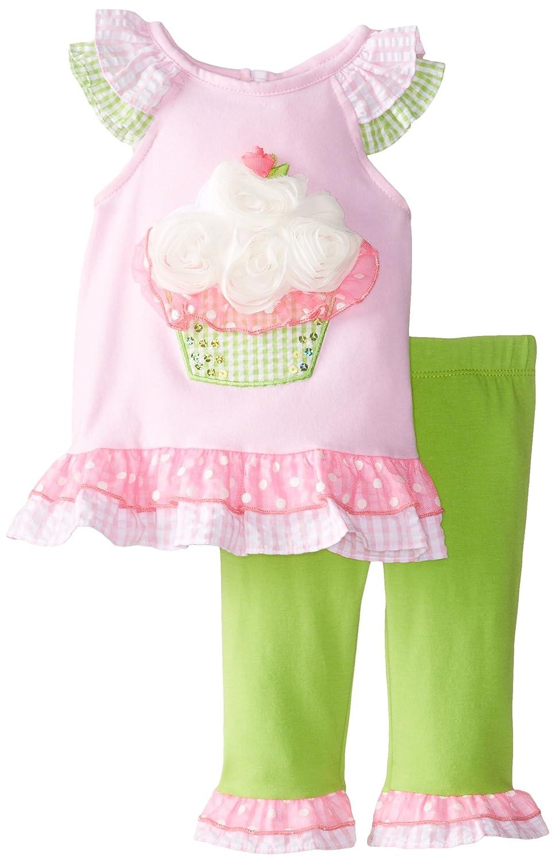 Rare Editions Baby Baby-Girls Newborn Cupcake Applique Legging Set