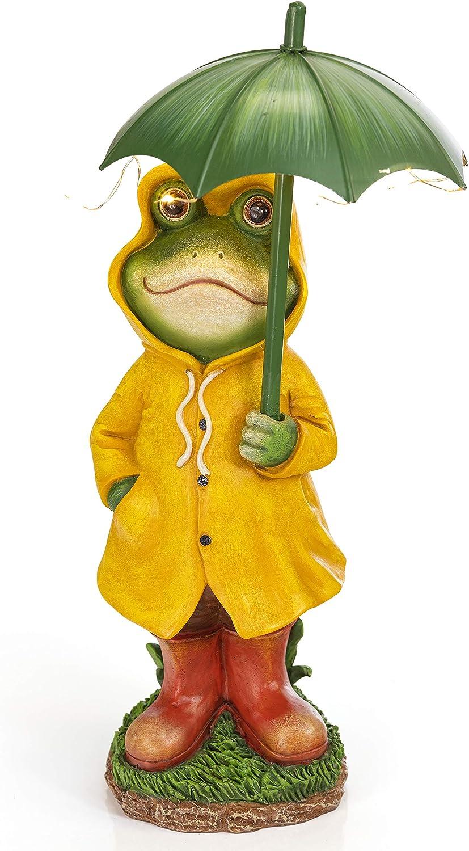 VP Home Rain Slicker Frog Solar Powered LED Outdoor Decor Garden Light