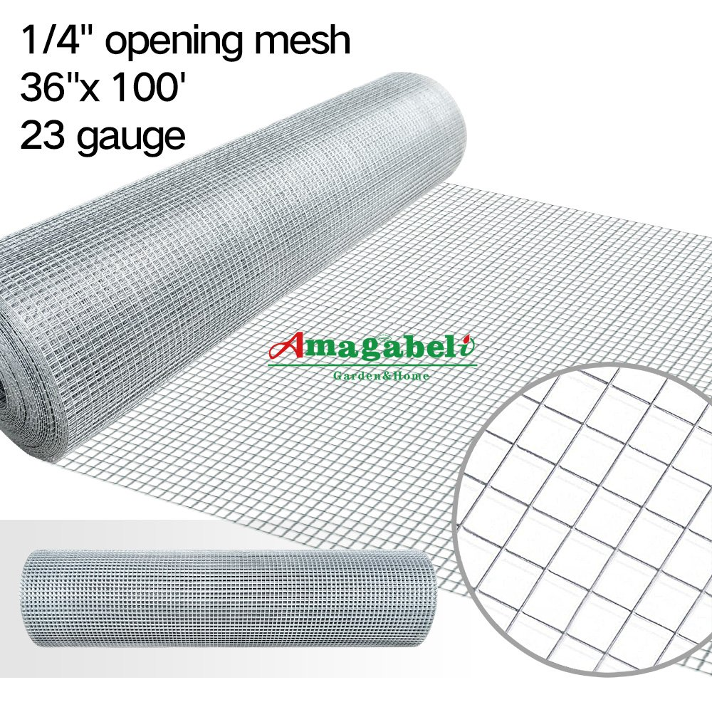 Amazon.com: 36inch Hardware Cloth 100 ft 1/4 Mesh Galvanized Welded ...