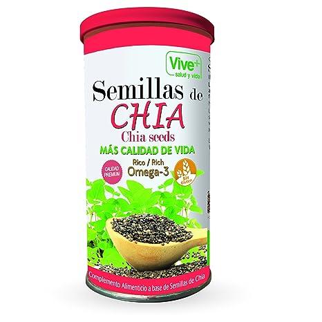 Vive+ Semillas de Chia, Lata - 3 Paquetes de 225 gr - Total: 675