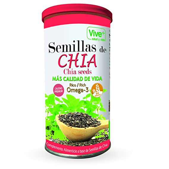 Vive+ Semillas de Chia, Lata - 3 Paquetes de 225 gr - Total: 675 ...
