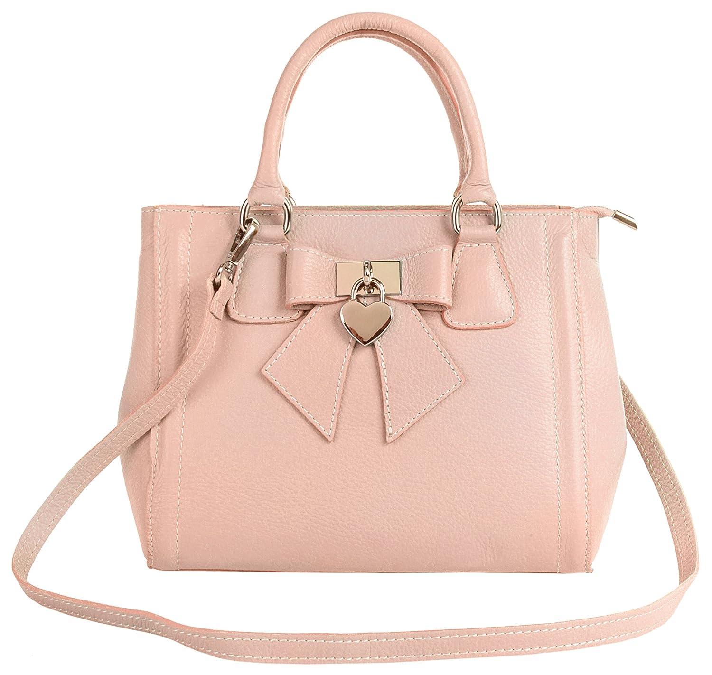 Handtasche ECHT LEDER rosa Damen Mittel - 018969 Cluty 0CbhGJSuS