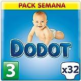 Dodot - Pañales para niños de 6-10 kg, talla 3, 32 unidades