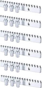 Pack cremallera acero estandar para motor corredera, compatible con cualquier motor del mercado, alta calidad, con separadores y tornillos de fijación mediante soldadura. (6 METROS): Amazon.es: Bricolaje y herramientas
