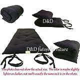 "Brand New Full Size Black Traditional Japanese Floor Futon Mattresses, Foldable Cushion Mats, Yoga, Meditaion 54"" Wide X 80"" Long"