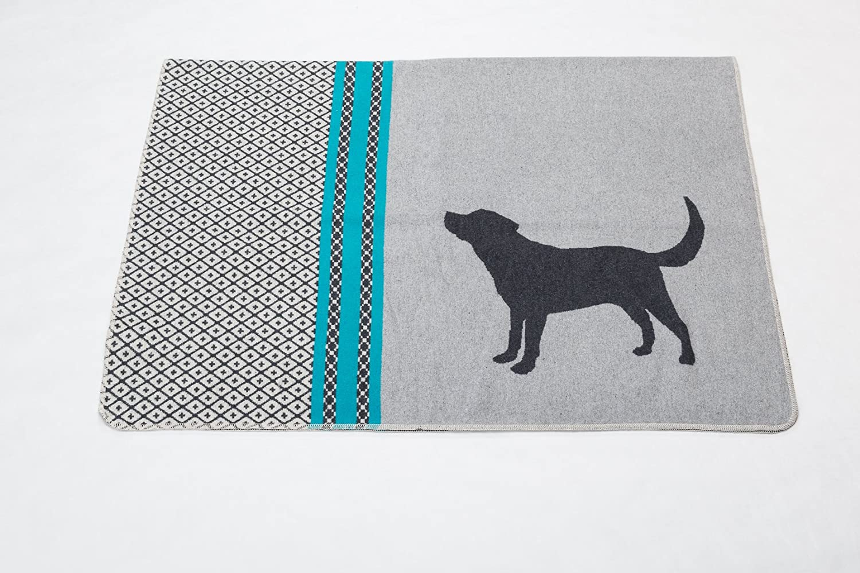 Haustierdecke WAU WAU grau 100x140cm David FusseneggerHund Hundedecke dog