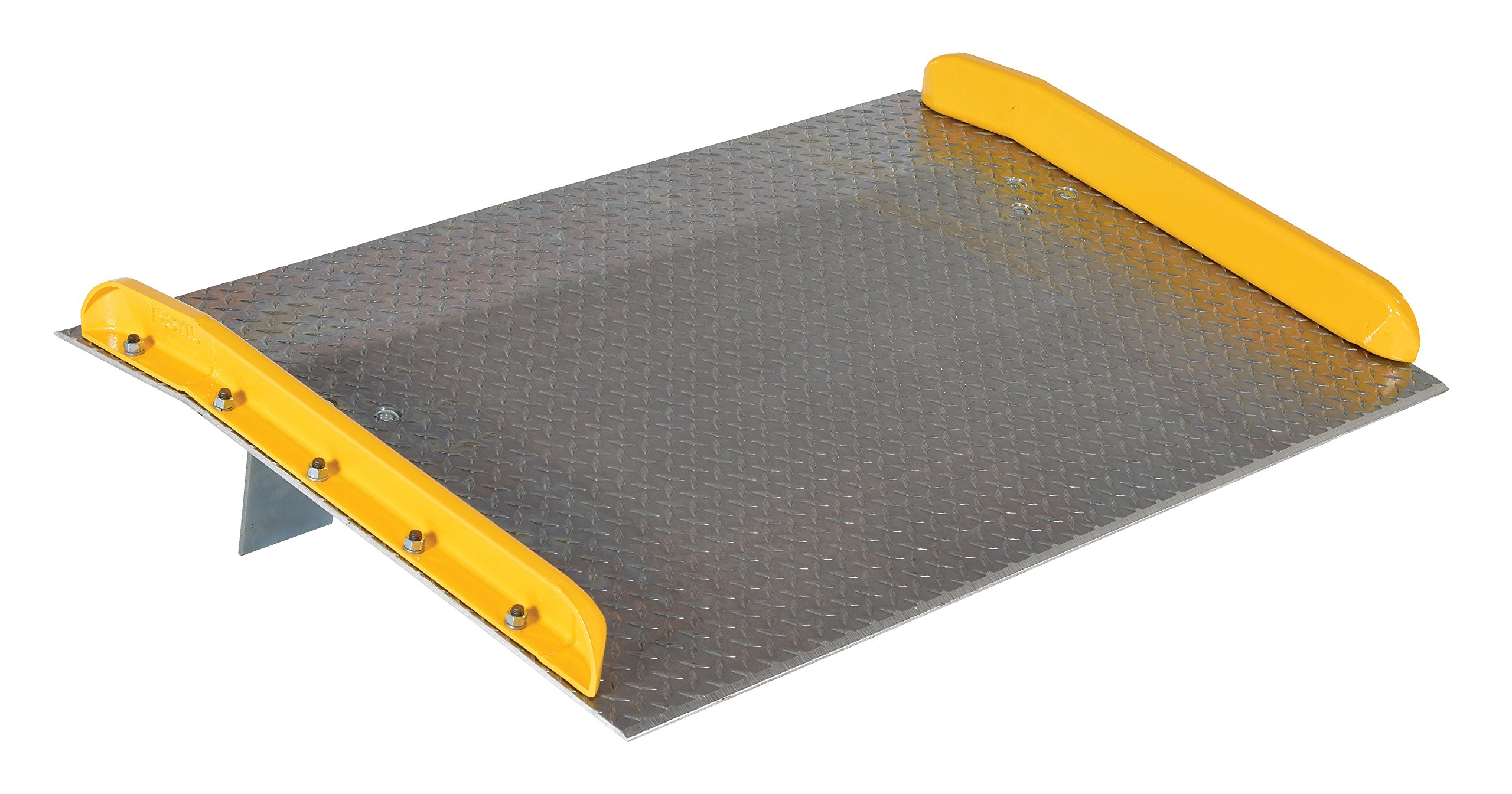 Vestil TAS-10-5436 Aluminum Dock Board with Steel Curb, 10000 lb. Capacity, 54'' x 36'', Silver