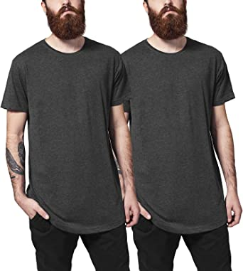 Urban Classics Shaped Long tee Camiseta (Pack de 2) para Hombre ...