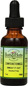 Alternative Health & Herbs Remedies Perspiration (increase), 1-Ounce Bottle (Pack of 2)