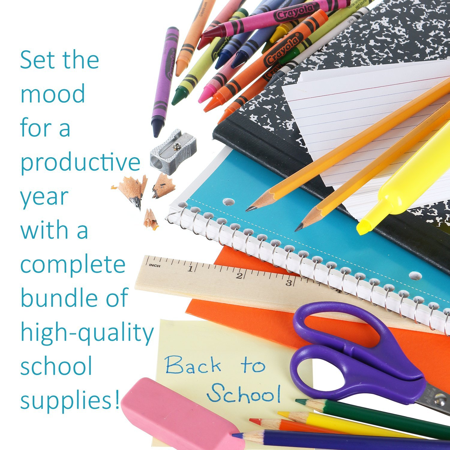 DilaBee Back to School Supplies Kit for Third to Fifth Grade Kids: Complete Classroom Supply Bundle - Set of 20 Elementary School Essentials - Crayola Art, Elmer's Glue, Pencils, Papers by DilaBee (Image #3)