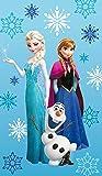 Disney Frozen 043719 asciugamano Frozen Arctic, in cotone effetto velluto, circa 75 x 150 cm