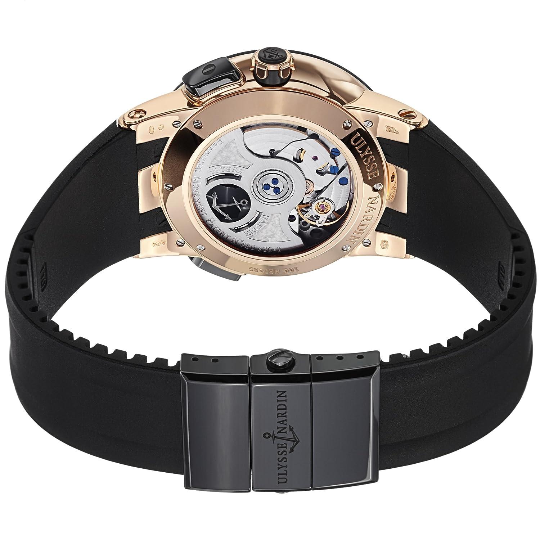 Ulysse Nardin el toro de hombre negro correa de caucho reloj automático Calendario Perpetuo de oro rosa 326 - 03 - 3: Ulysse Nardin: Amazon.es: Relojes