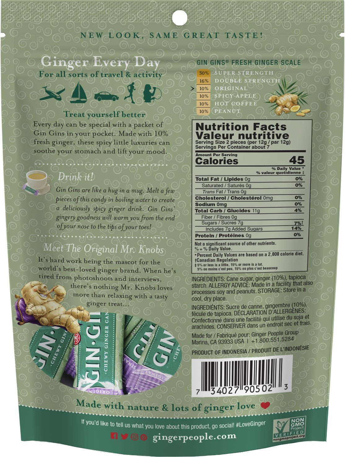 The Ginger People Original Ginger Chews, 3-Ounce Bags (Pack of 24) by The Ginger People (Image #2)
