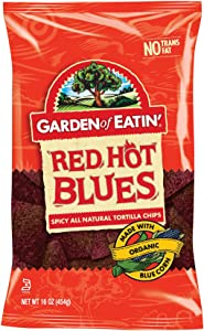 Garden of Eatin' Red Hot Blues Corn Tortilla Chips, 16 Ounce (Pack of 12)