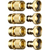 New Garden Hose Quick Connector. ¾ inch GHT Brass Easy Connect Fitting 8-Piece Set Male and Female