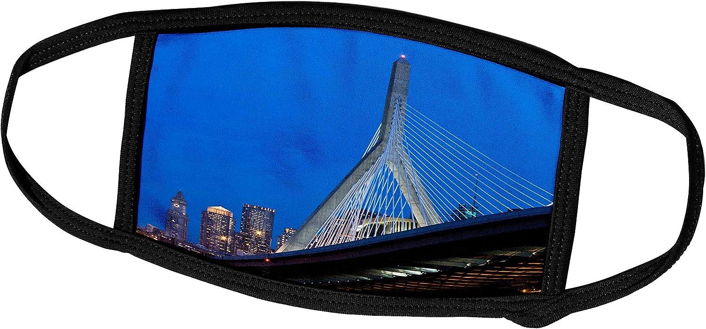 3dRose USA, Massachusetts, Boston. The Zakim Bridge - US22 WBI0625 -. - Face Masks (fm_91023_1)