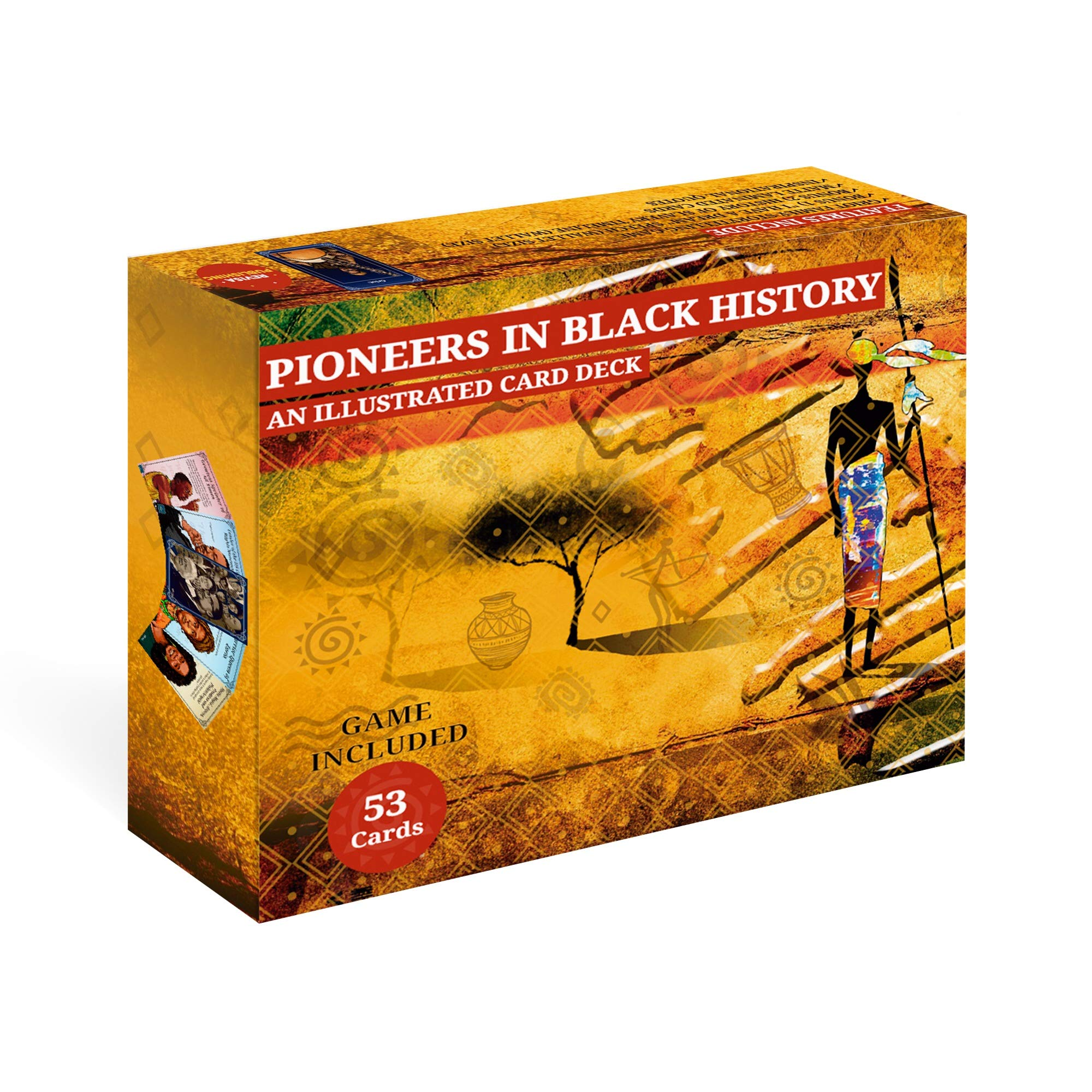 Flashcard Deck of Black History. Illustrated Documentary of Famous African American Pioneers.Facts from African History Books to Slave rebellions to Selma Civil Rights March- for Kids and Adults