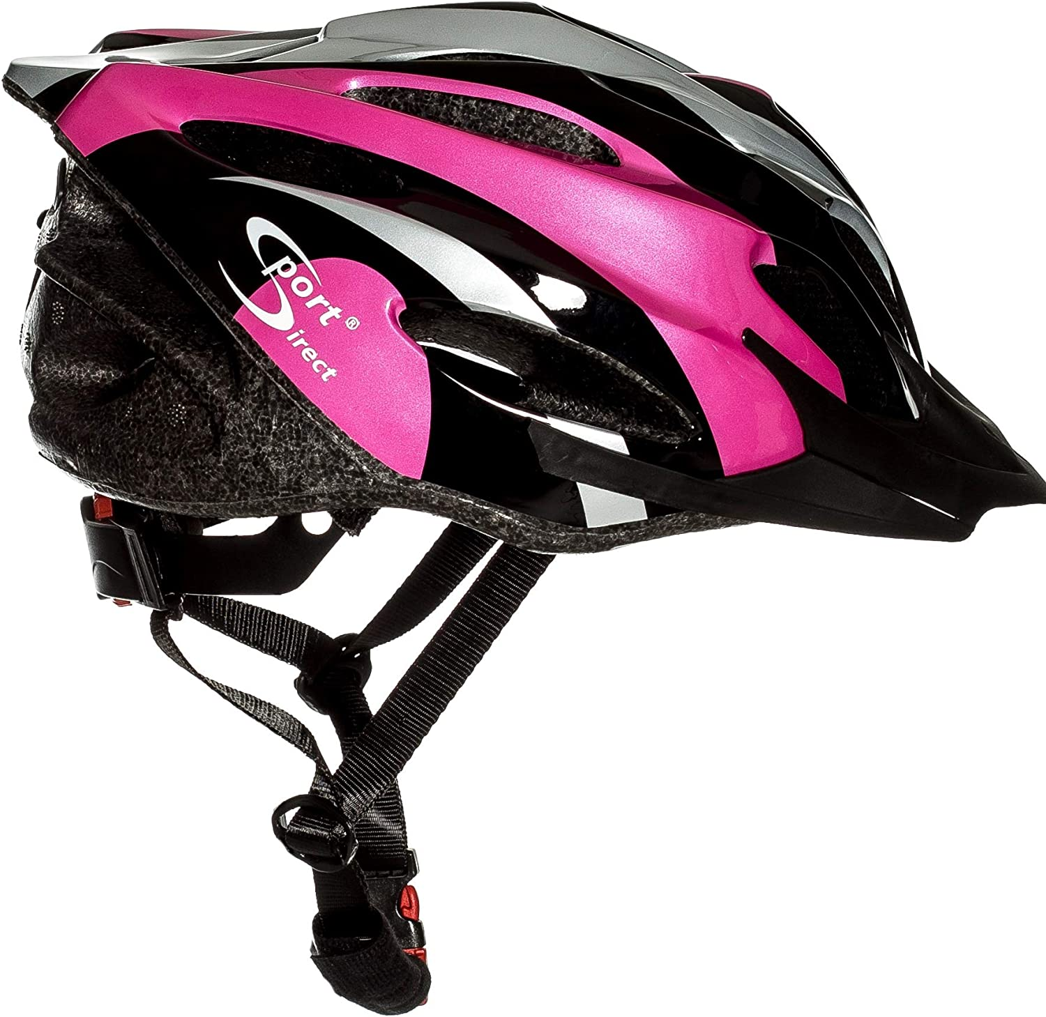 Sport Direct Women s Vapour Bicycle Helmet – Pink Black Silver, Size 56-58