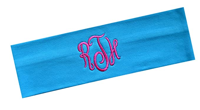 Personalized Monogrammed Script Initial Cotton Stretch Headband by Funny  Girl Designs 45ab609fa98