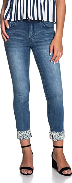 Yes Zee Jeans Donna Denim Blu Medio