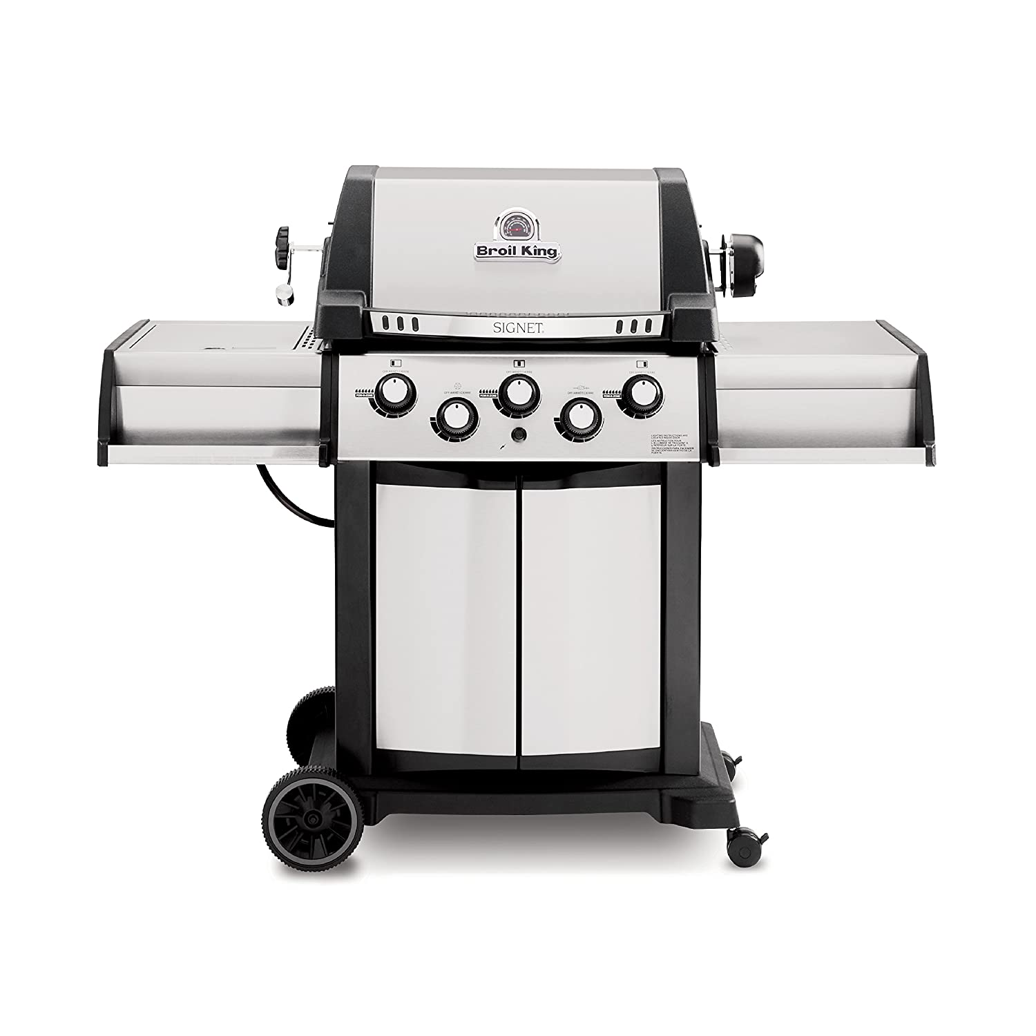 Broil King 986887 Signet 90 Natural Gas Grill with Side Burner and Rear Rotisserie