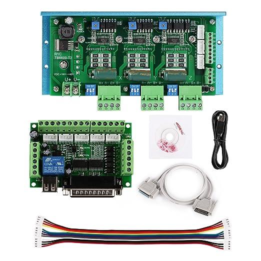 SainSmart CNC Router 3 Axis Kit, TB6600 3 Axis 4.5A Stepper Motor Driver Board, Mach3 5 Axis Breakout Board - - Amazon.com