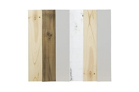 Legno Naturale Chiaro : Decowood testiera anticato dritto verticale legno grigio chiaro