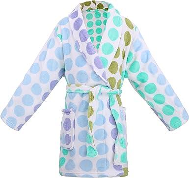 Simplicity Kids Boys Girls Flannel Hooded Bathrobe,Toddller Sleepwear Robe