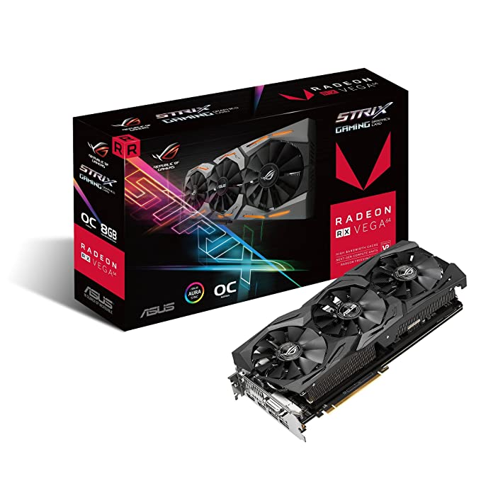 Asus Rog Strix Radeon Rx Vega64 Gaming Graphics Card With Asus Aura Sync: Amazon.es: Electrónica