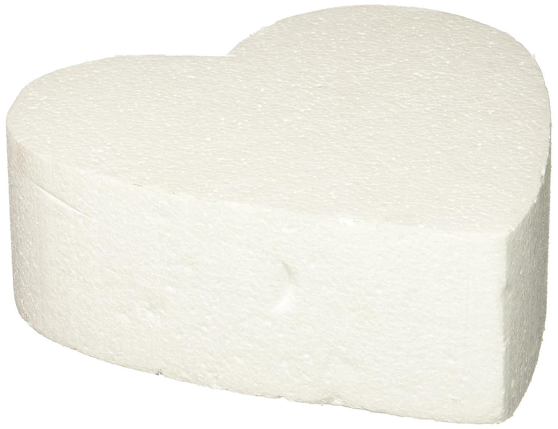 Oasis Supply 747508 Dummy Heart-Shaped Cake, 8, White 8