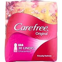 Carefree Pantyliner Original Unscented Value Pack, 30ct, (Pack of 3)