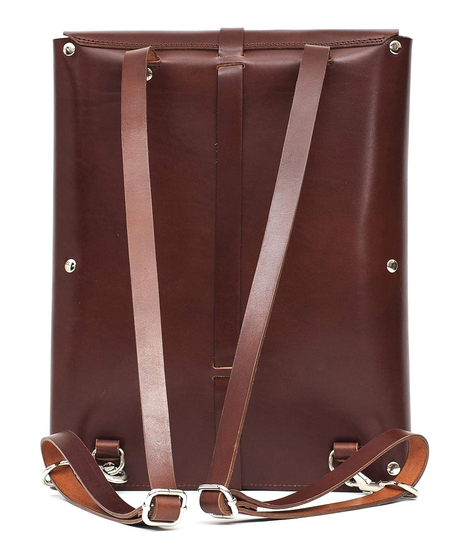 Mochila cuero para portátil, diseño único, elegante y práctico para hombre, minimalista, inmejorable bolsa de piel curtido en España.: Amazon.es: Handmade