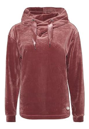 95ad1c1b01b1 Eight2Nine Damen Nicki-Hoodie   Velour Look Kapuzenpullover in Grau, Rot    Blau  Amazon.de  Bekleidung