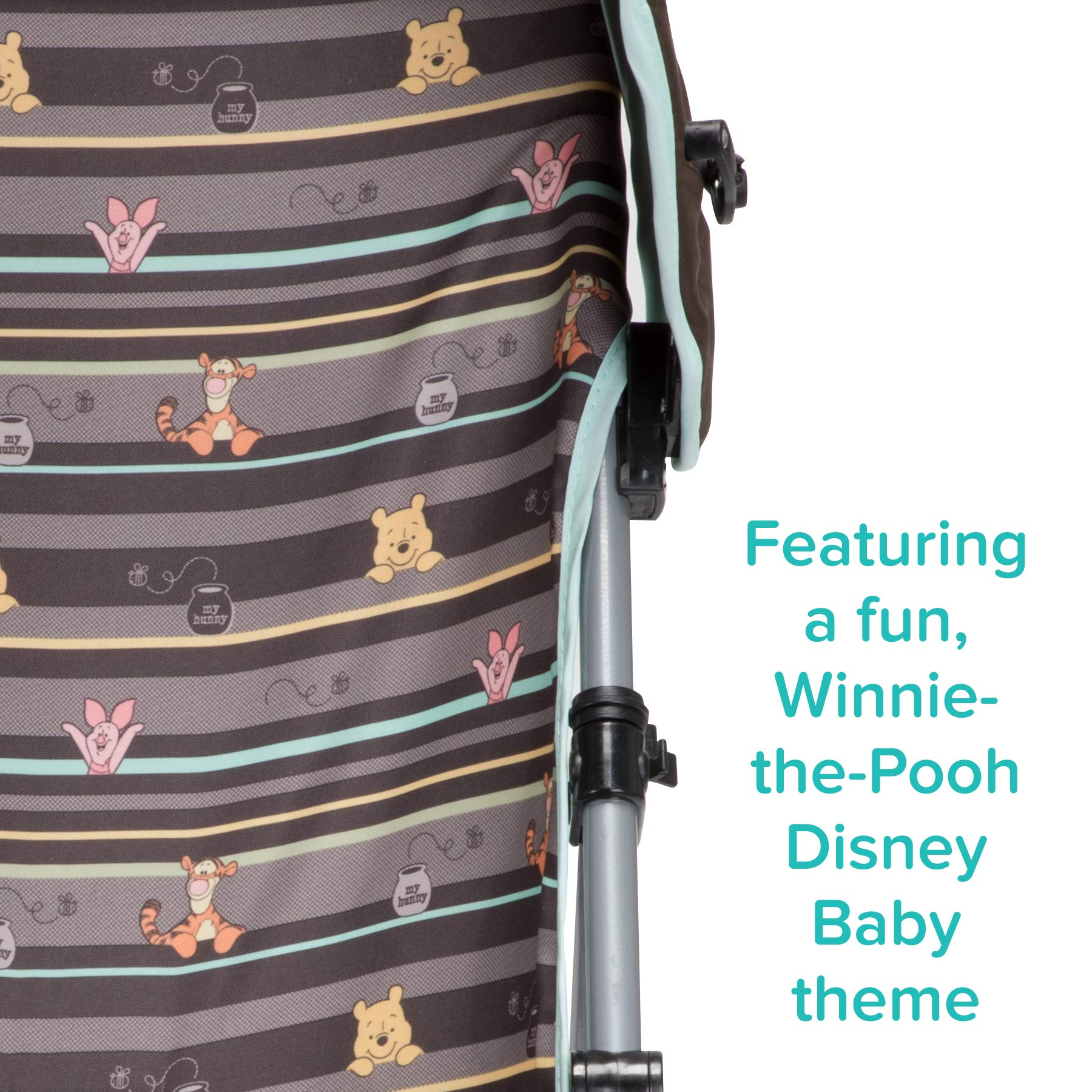 Disney Baby Winnie-the-Pooh Umbrella Stroller with Canopy (My Hunny Stripes) by Disney (Image #4)