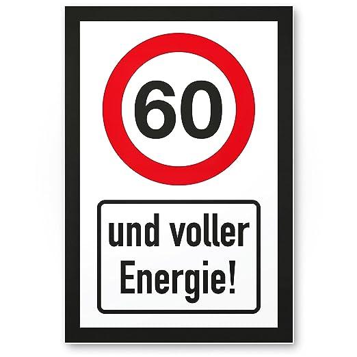 Original Rahmenlos Blechschild Zum 60 Geburtstag Oldtimer 60