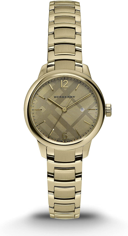Burberry Swiss de Las Mujeres Tono Dorado Reloj de Pulsera de Acero Inoxidable 32mm bu10109