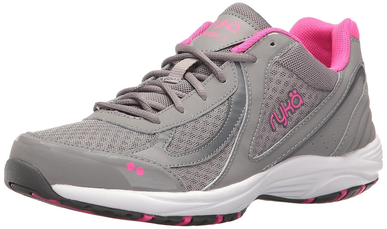 Ryka Women's Dash 3 Walking Shoe B01KWEYCQG 6.5 B(M) US|Grey/Pink