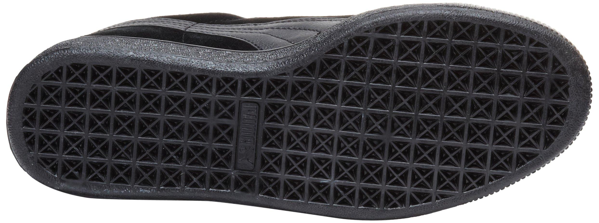 PUMA Suede Classic Leather Formstrip Sneaker,Black/Black,9 D(M) US