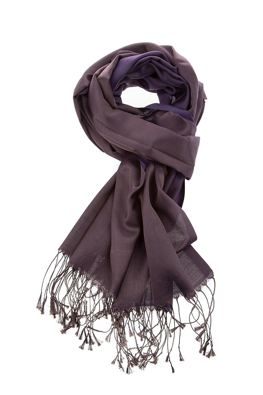 Luxury Silk Pashmina Scarf | Silky Soft Elegant Wrap | Stylish Solid Colors Unisex Men Women| Vegan Hypoallergenic Quality (Charcoal)