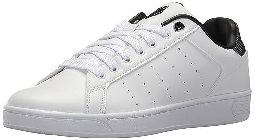 K-Swiss Men's Clean Court CMF Sneaker, White/Black, ...