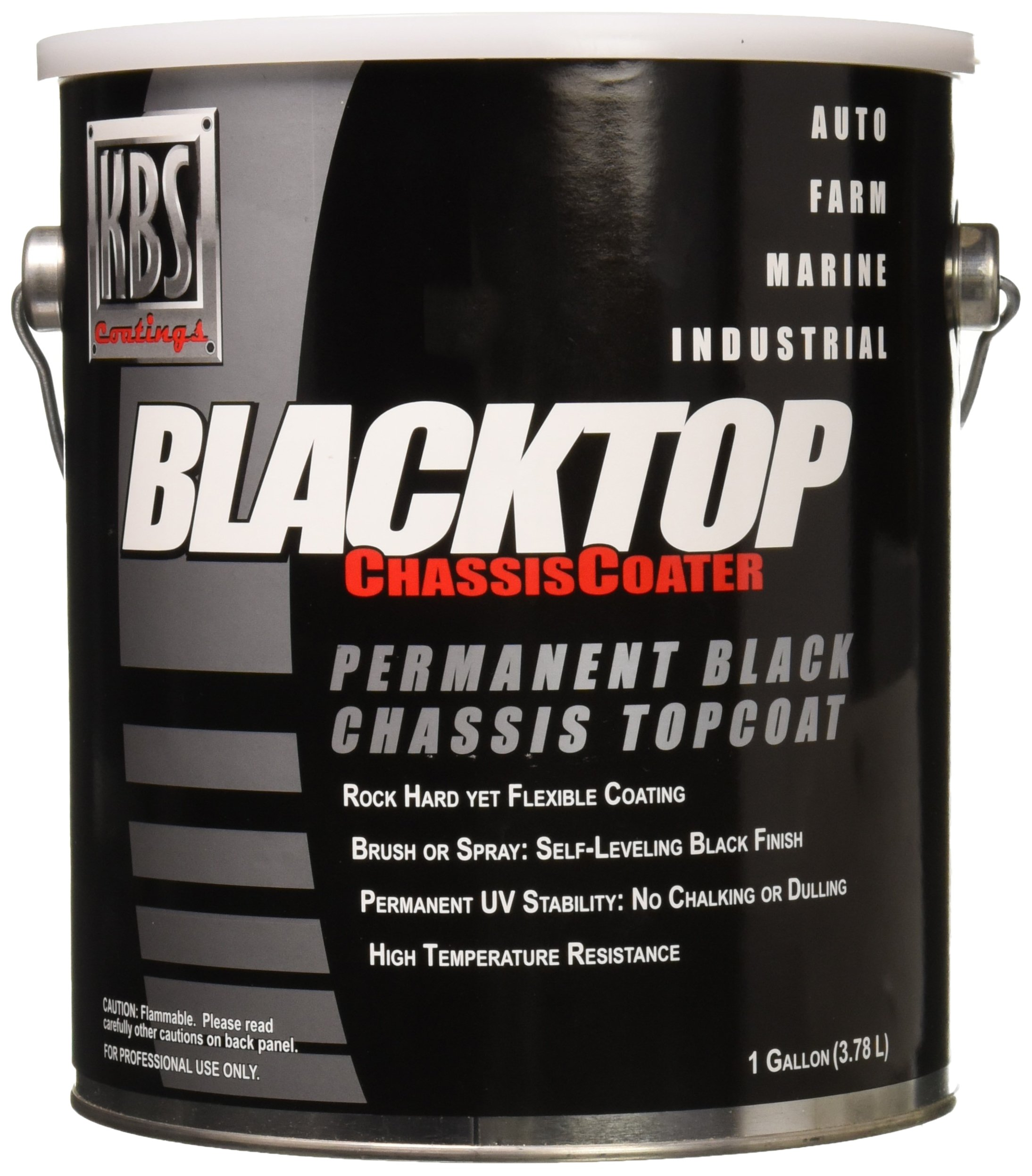 KBS Coatings 8501 Gloss Black BlackTop Chassis Paint - 1 Gallon